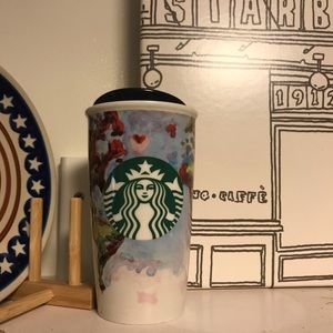 Starbucks | Watercolor World Map Ceramic Tumbler